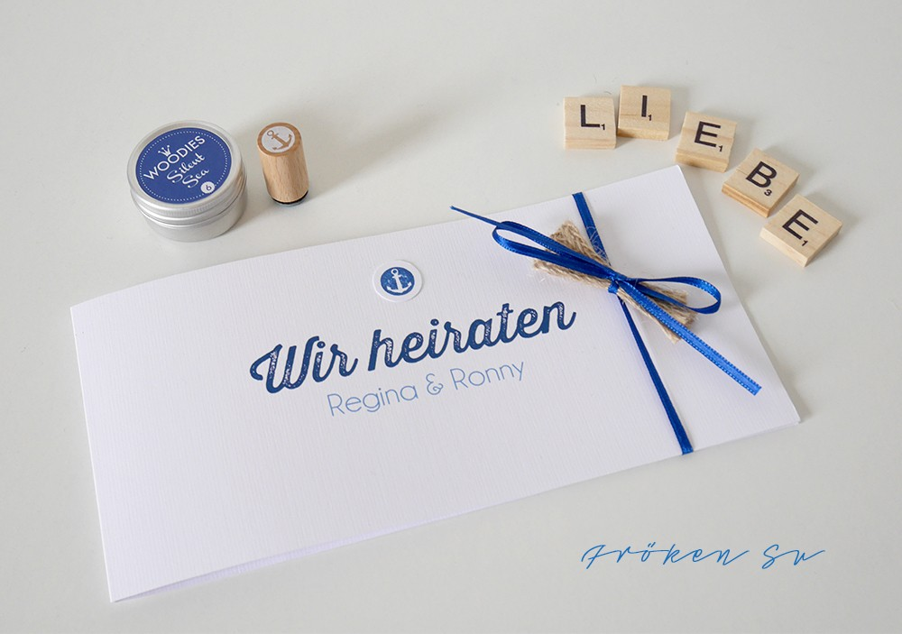 DIY Wedding Invitations with a Nautical